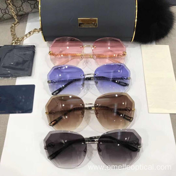 Fashion Sunglasses with Stainless Eyeglass Frames